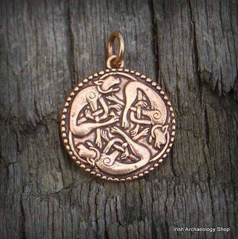 Bronze Celtic Dogs Pendant