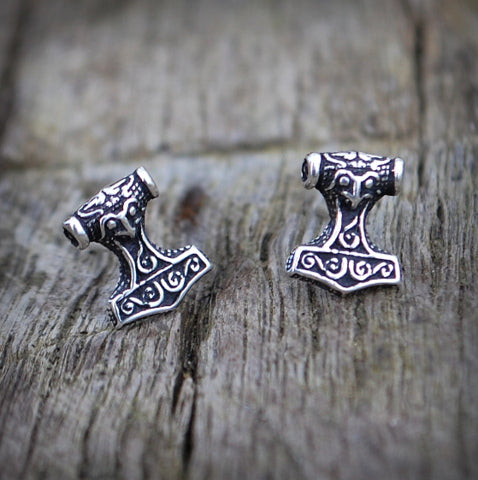 Thors hammer earrings
