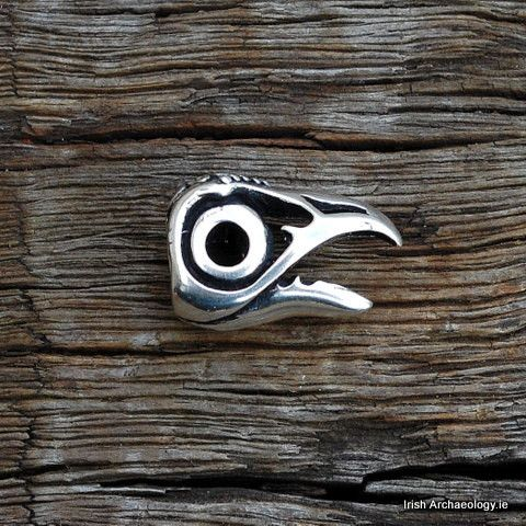 Silver Viking Raven Beard/Hair Bead