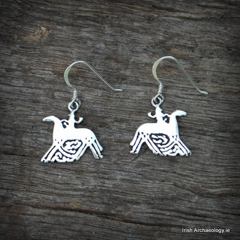 Silver Sleipnir Earrings