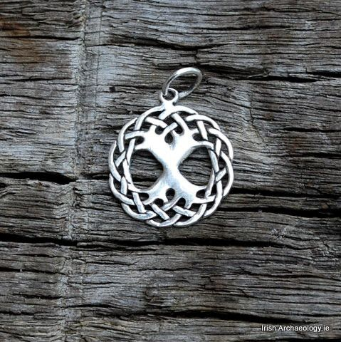Silver Ygdrassil Tree of Life Necklace