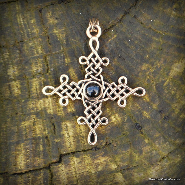bronze cross pendant