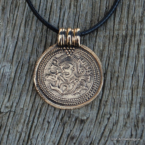 bronze viking pendant bracteate