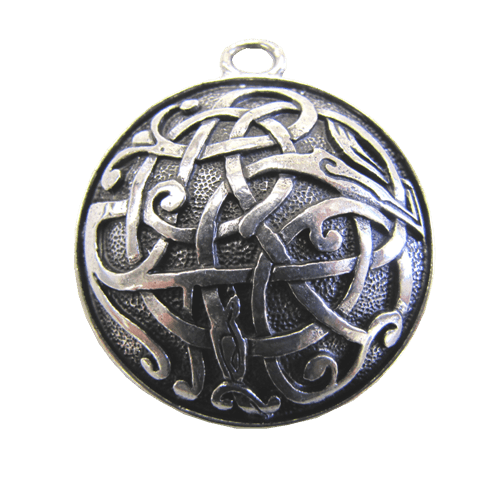 pendant pewter large index fine knot shield celtic jewelry