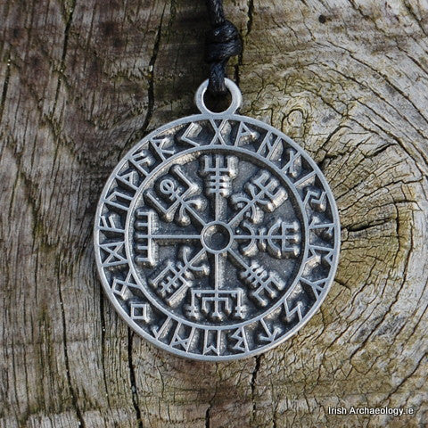 Pewter Rune Compass
