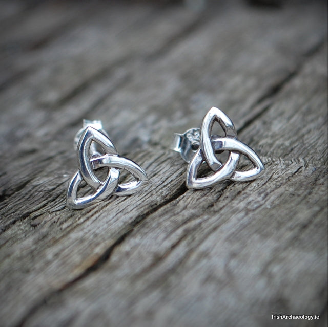 Silver Trinity Knot Earrings 2