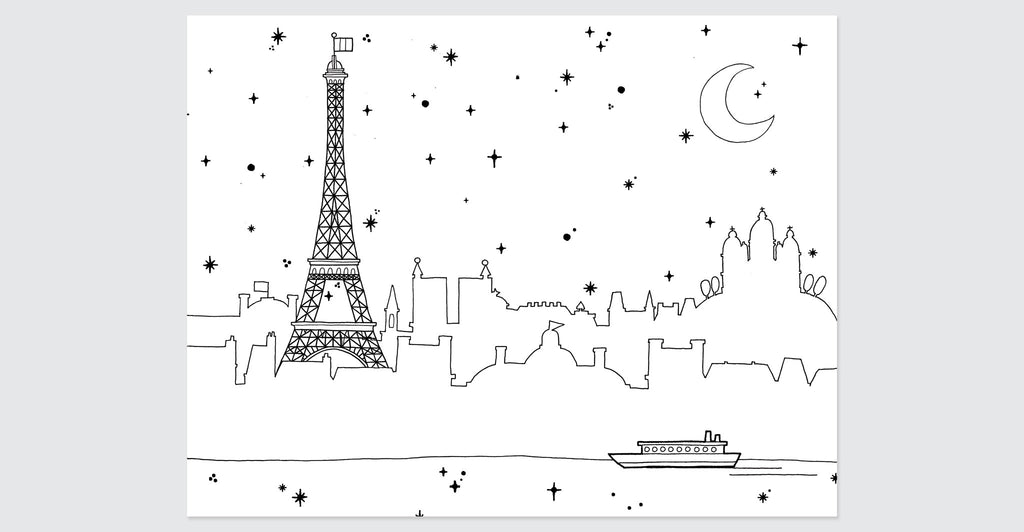 Paris Coloring Book: Spread #6
