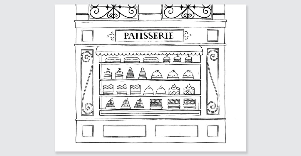 Paris Coloring Book Spread 5