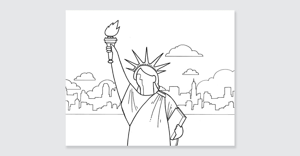 New York Coloring Book: Mini Edition: Spread #2