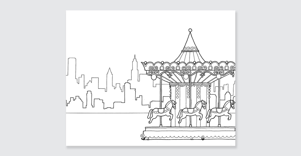 New York Coloring Book: Spread #3