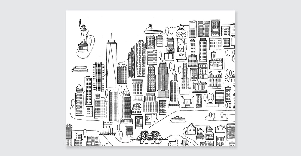 New York Coloring Book Mini Edition Spread 6