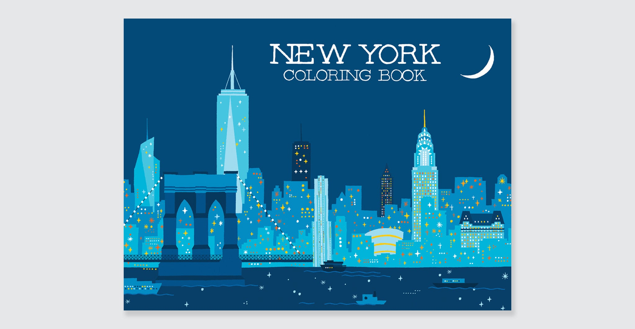 NEW YORK COLORING BOOK Illustrated By Min Heo