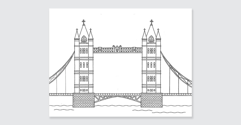 London Colouring Book: Mini Edition: Spread #4