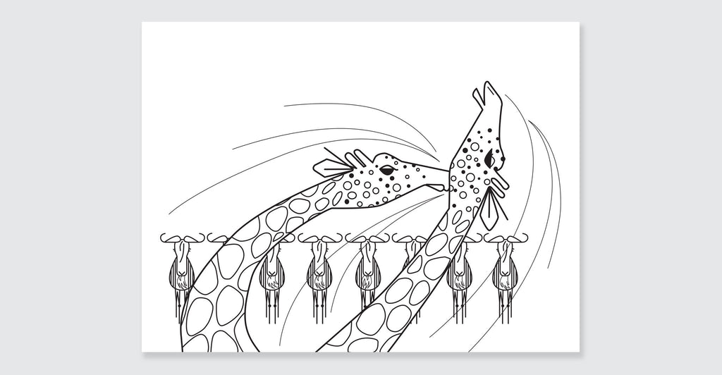 Charley Harper Deluxe Coloring Book: Spread #3