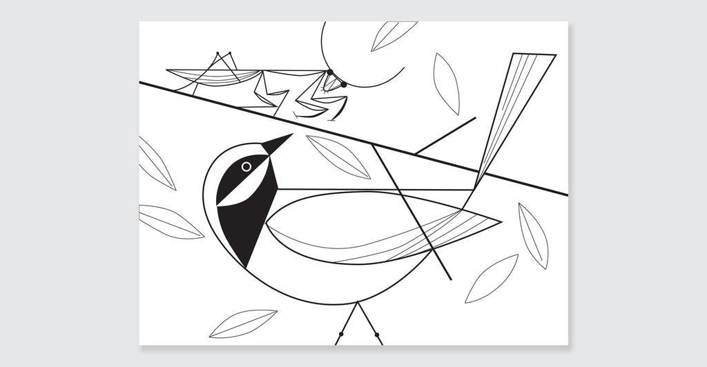 Charley Harper Coloring Book of Birds: Spread #6