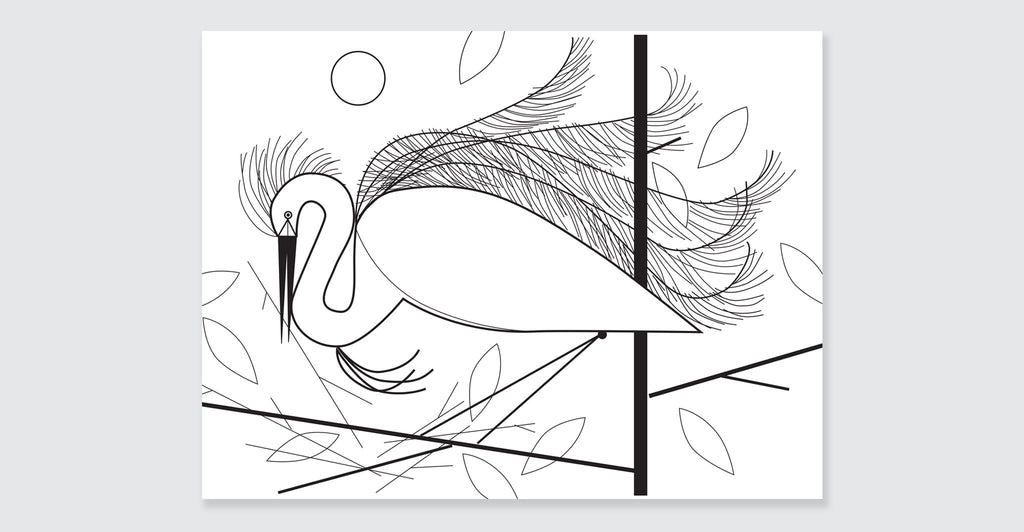 Charley Harper Coloring Book of Birds: Spread #8