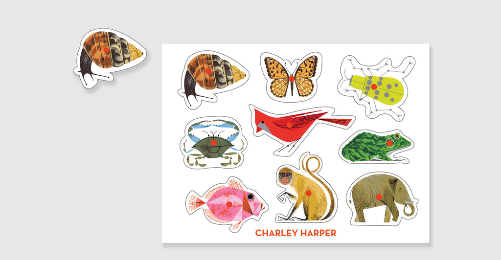 Charley Harper Classic Wooden Peg Puzzle: Spread #2