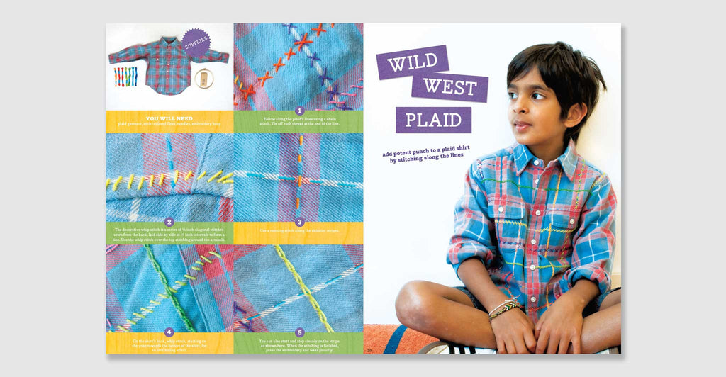Kid Made Modern: All About Embroidery: Spread #4