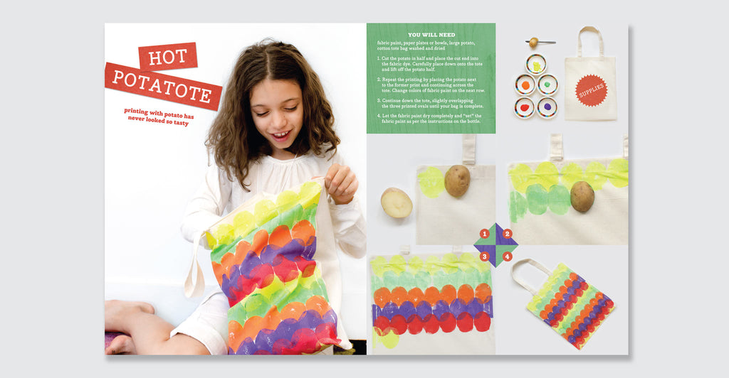 Kid Made Modern: All About Fabric Printing: Spread #4
