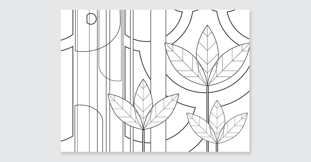 Natural Wonders: A Patrick Hruby Coloring Book: Spread #2