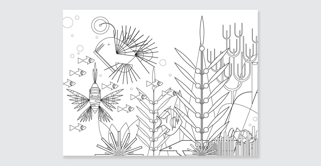 Natural Wonders: A Patrick Hruby Coloring Book: Spread #3