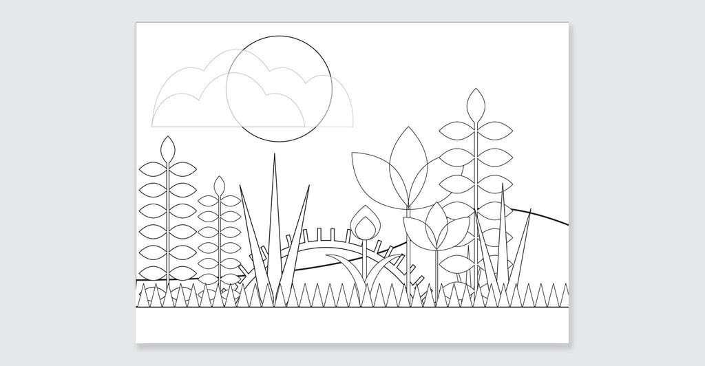 Natural Wonders: A Patrick Hruby Coloring Book: Spread #4