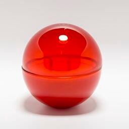 Candle - Glass Flame Red & 'OLE'