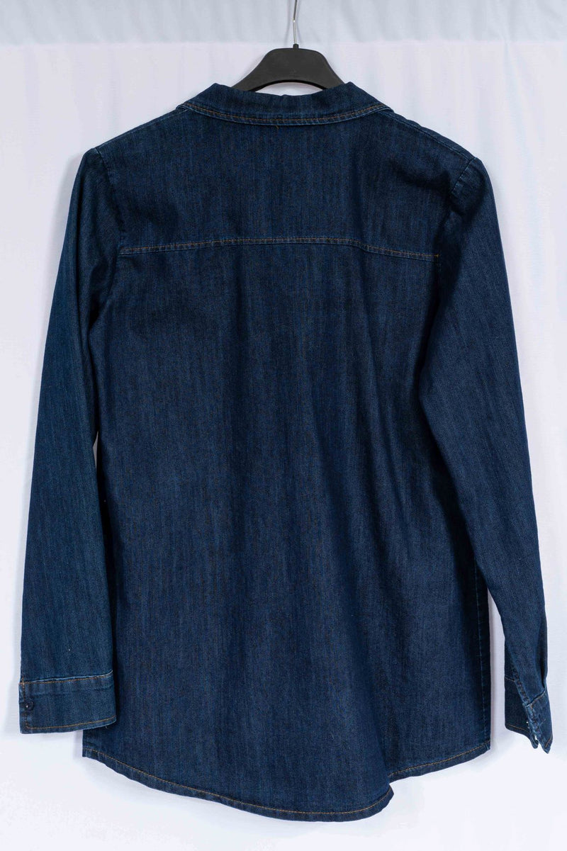 Blouse 'Lattina' -Denim