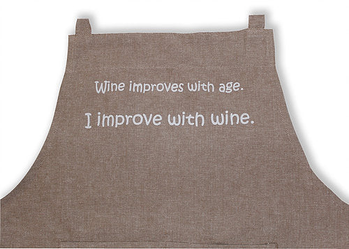 Apron - I Improve With Wine