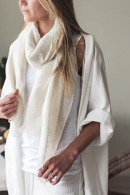 Scarf Cotton - 'Natural'