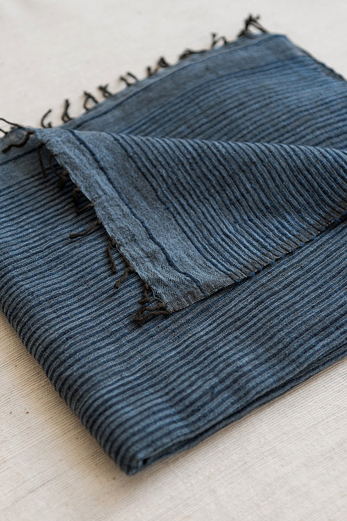 Scarf Cotton 'Indigo' - Once Was Lost