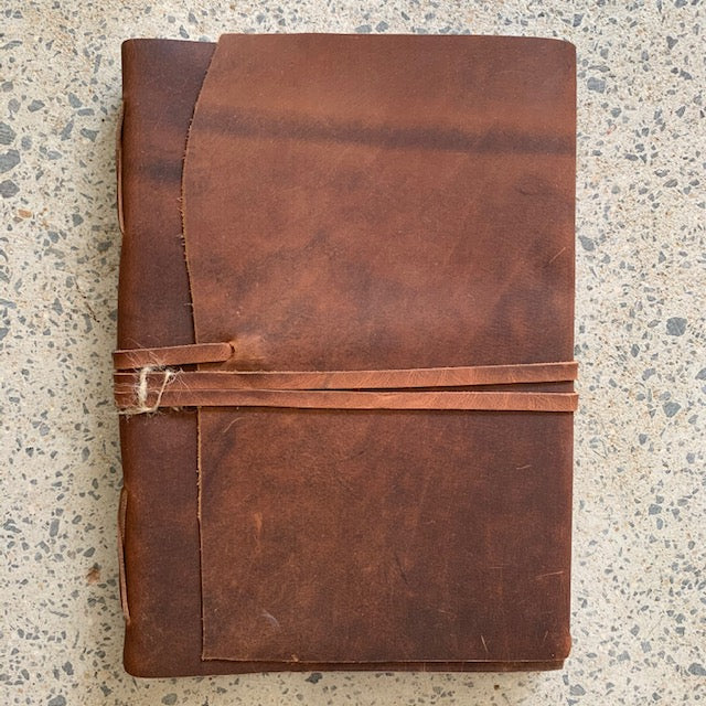 Journal Leather 'Manaf' A4 -Tan