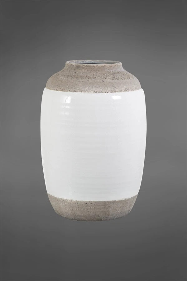 Vase - Two-Tone Glazed Ceramic Medium