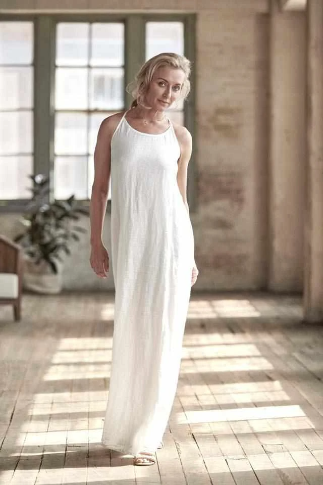Dress Maxi White- Eadie Lifestyle
