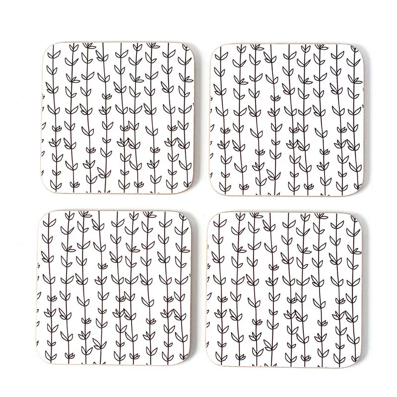 Coasters Cork Gift Boxed 'Eternity Vine'