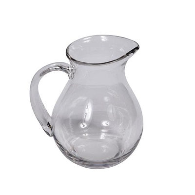 Jug - heavy Clear Glass