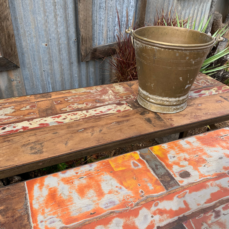 Wooden Folding Console Table painted
