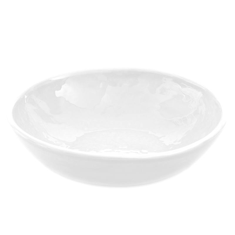 Batch# Bowl 'Peasant' Gloss White