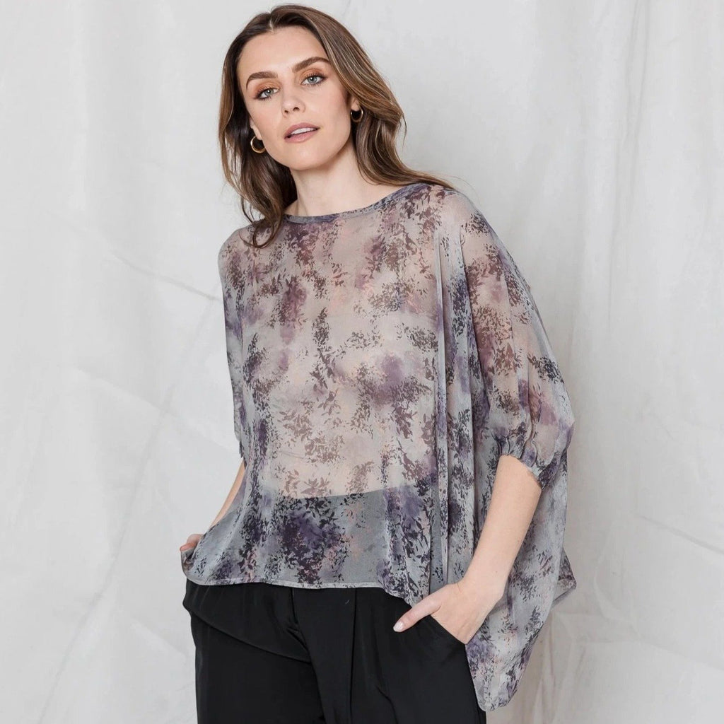 "Silk Georgette Top M - ""Soul"""