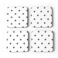 Coasters Cork Gift Boxed 'Swiss Cross'