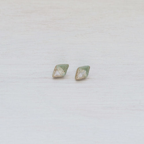 Earrings 'Acorn' Studs Diamond 'Salted Pistachio'