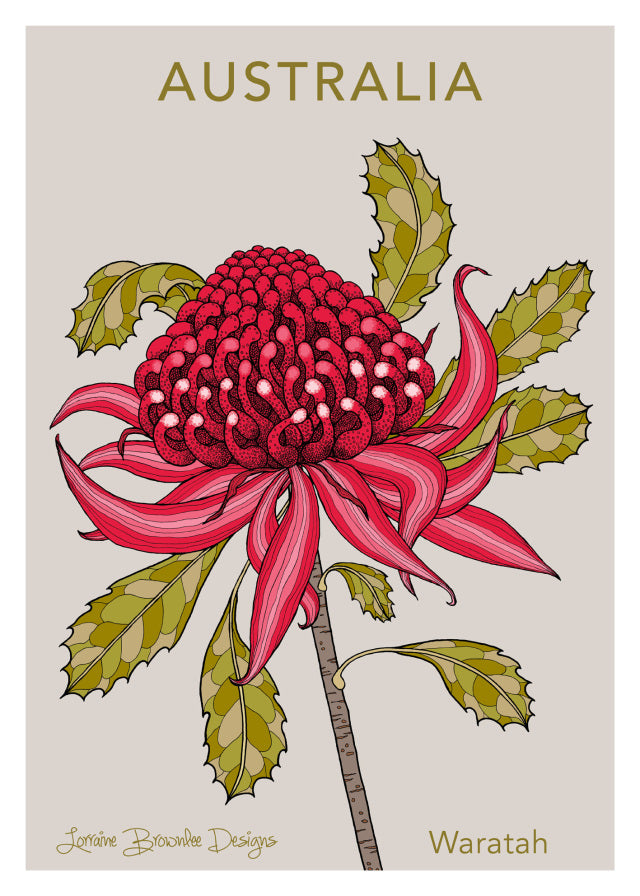 Tea Towel - Waratah
