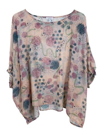 "Silk Georgette Top M - ""Undone"""