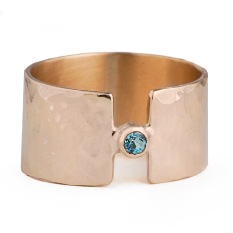 Textured Gemstone Band