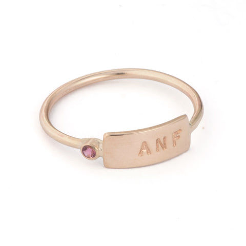Micro ID Gemstone Band