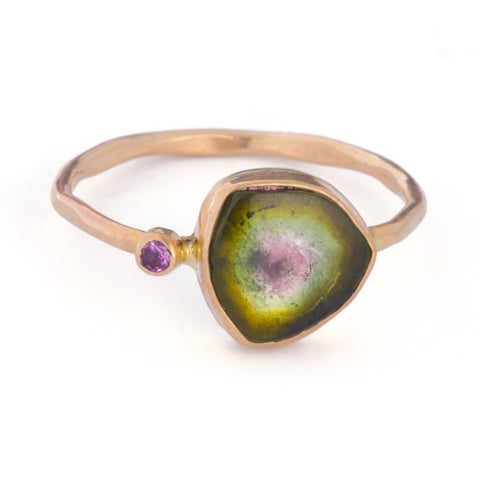 Minera - Watermelon Tourmaline Ring