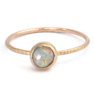 Load image into Gallery viewer, Flare Australian Pipe Opal Ring
