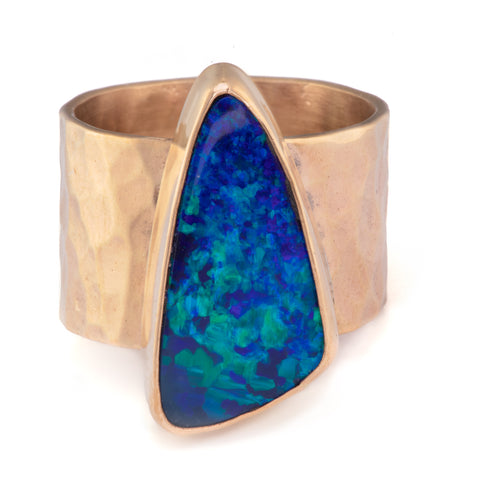 Opal Textured Wide Band
