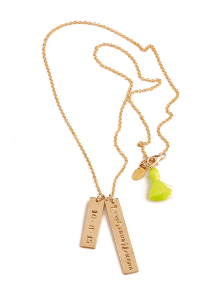 Token Tassel Necklace