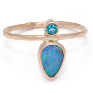Load image into Gallery viewer, Teardrop Boulder Opal Ring